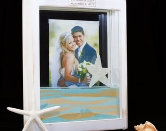 Distressed White Unity Sand Frame Kit with Engraving