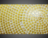 Painting with Gold Metallic Squares ORIGINAL Abstract Modern Acrylic Art Deco Textured White Modern Ready to Hang 48 x 24 Made to Order