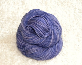 Hand Dyed yarn, Worsted Weight, 100% Superwash Merino Wool, 100g/230 yards- 'Provence'
