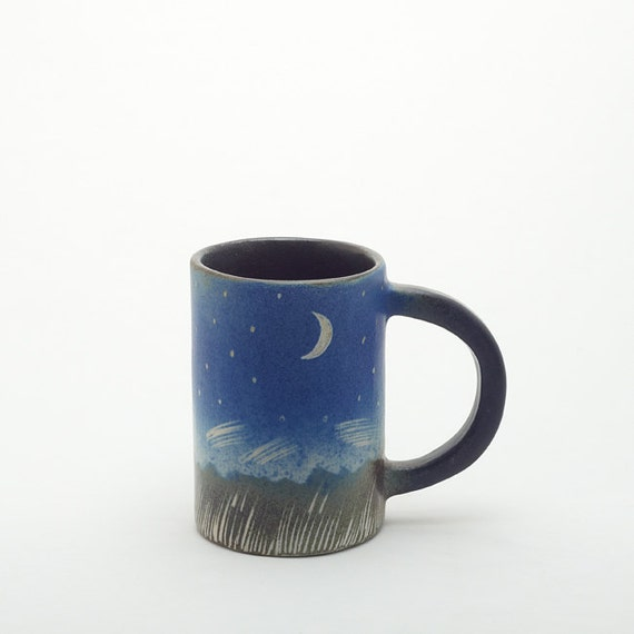 Tea Pleasures - Night Sky and Stars Ceramic Mug