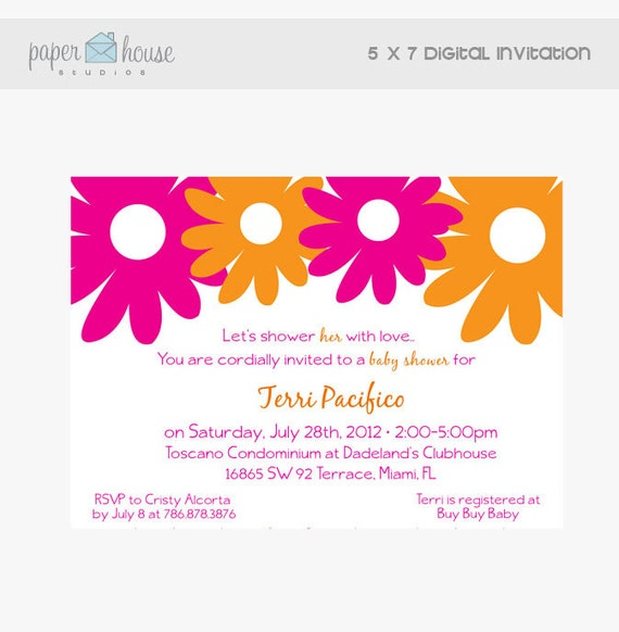 Baby Shower 5 x 7 Digital Invitation