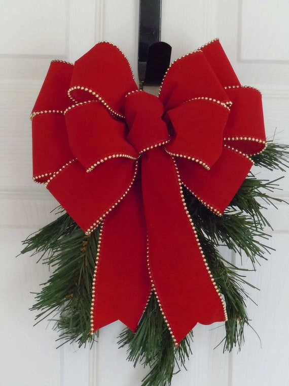 large christmas bows outdoor