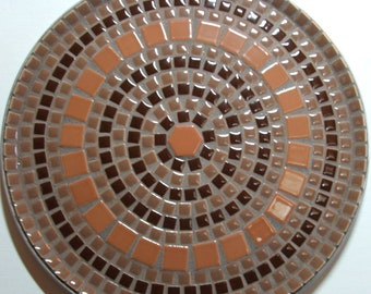 "12"" Decorative mosaic plate"