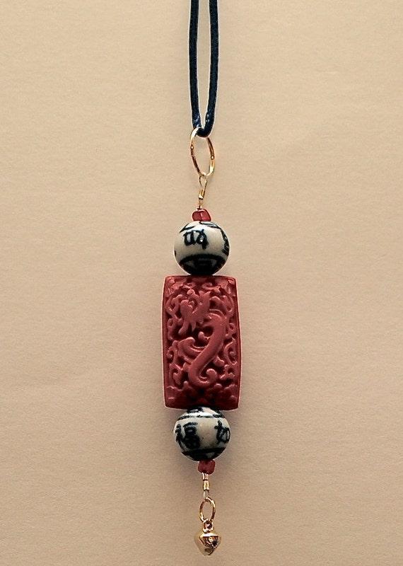 Asian Inspired Good Luck Charm for Zipper, Keychain, or Pendant