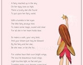 Original Fairy Poem, Making Magic, 8x10, Instant Download, Image File, Printable Poetry, Party Favor, Last Minute Gift