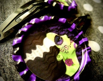 Muertos Bride hair clips