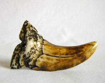 resin pendant - tooth/claw - 58mm - 1