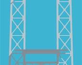 George Washington Bridge Seasons 12 x 36 Print Spring