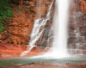 RESERVED FOR APRIL - Virginia Falls Montana Photography Unframed 16x24 inch