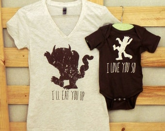 XXL/3XL Mommy and Me Shirt Set: Where the Wild Things Are