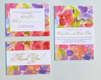 Watercolor Wedding Invitation Suite