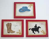 Handpainted Cowboy Paintings for your little Cowboy