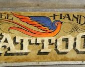 Tattoo Sign, hand painted, original, art, wooden sign, vintage tattoo , decor