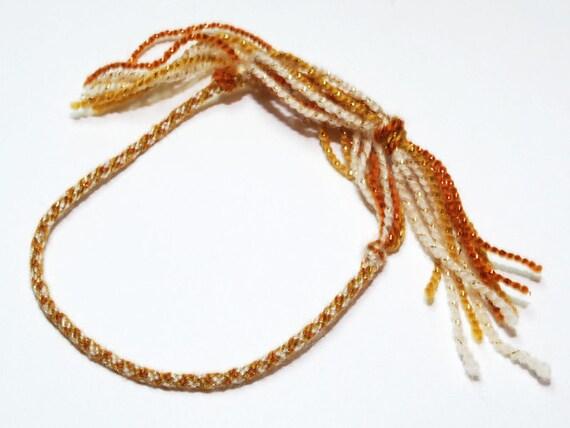 LIMITED EDITION Thin Bracelet Kumihimo Fibre Fall Fashion Autumn Colors