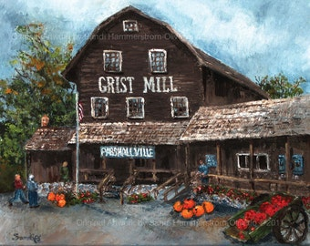Michigan's Parshallville Cider Mill - Giclee print