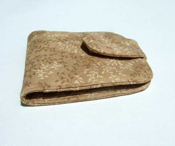 Light Brown Wallet- Cotton -Small