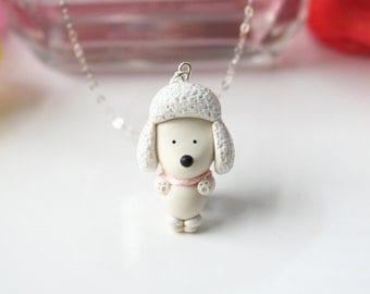 Paris the Poodle Necklace -Sterling silver-