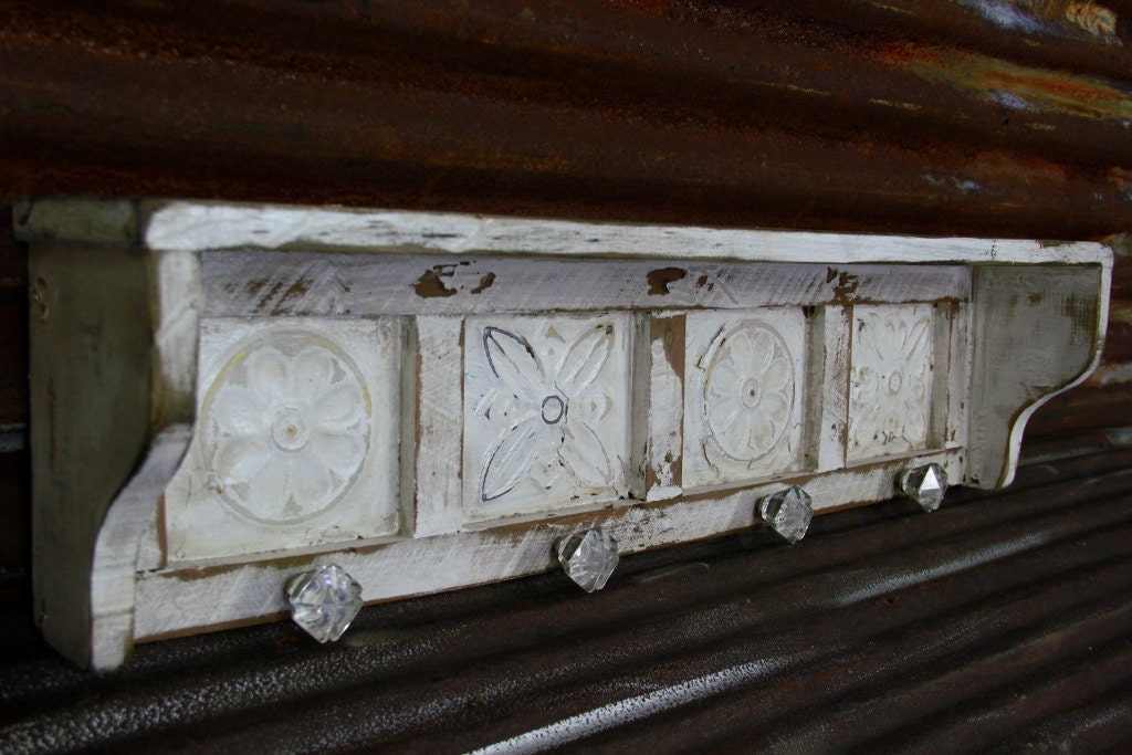 Large Primitive Wall Shelf French Country Wall By