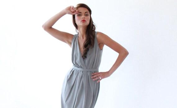 Cocktail short Dress,Gray Dress , Dress with pockets, Sleeveless summer dress