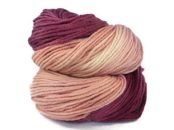 Hand Dyed Yarn Merino DK Pink and Purple