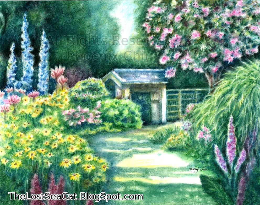 Items similar to Garden Art Floral Art Flower Art