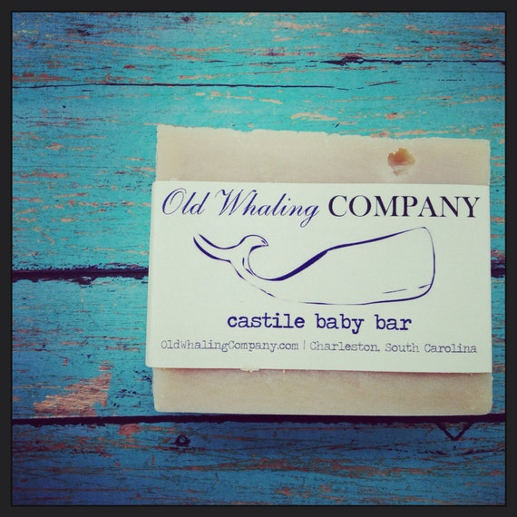 All Natural, Pure Castile Baby Soap, Handmade Unscented Goat's Milk, Whale, Nautical, Beach, Ocean, Sea