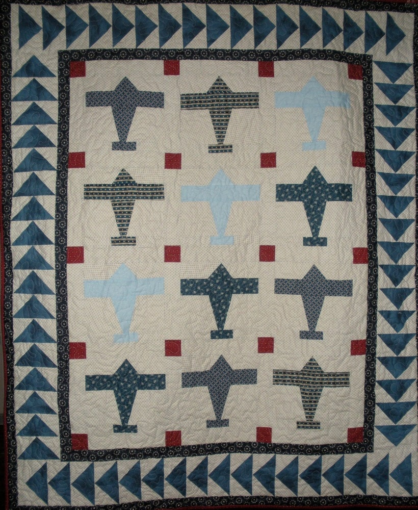 Airplane Quilt Pattern Digitial Download