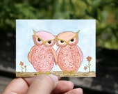 "SALE - Going Out of Business - ACEO/ATC Artist Trading Card - ""SisterFriends"" - 3.5"" x 2.5"" Mini Art Print"