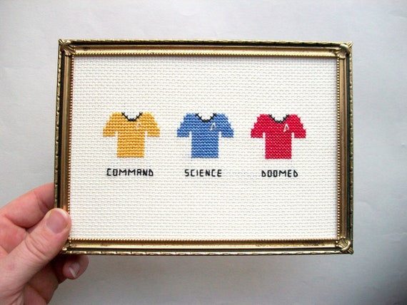 Doomed Red Shirt Cross Stitch | Trekkie Gift Guide