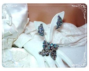 Bodacious Blue Purple Aurora Borealis Demi D&E Juliana  656a-070508055