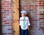 Vintage Oversized Growth Chart Ruler