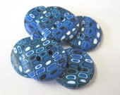 Royal  Blue and Jade Buttons