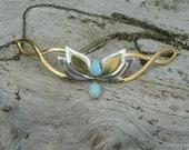 Tiara, Larimar and fire opal