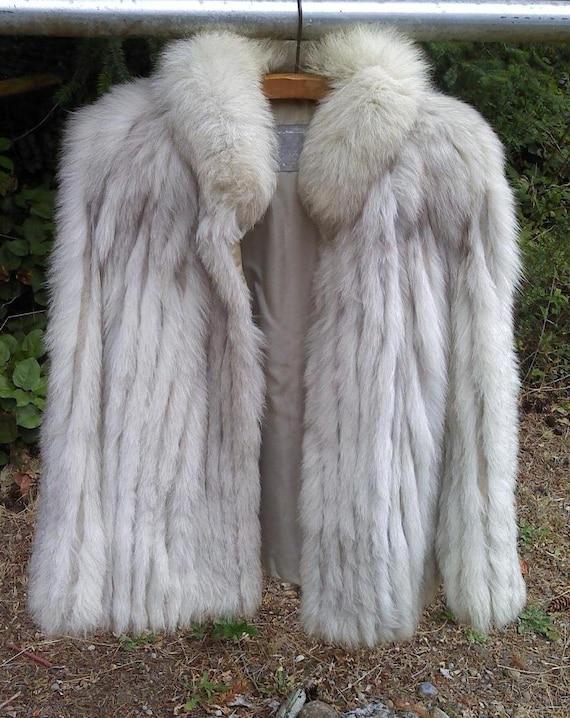 Vintage Arctic Silver Fox Fur Coat / 1960's Fur Jacket /RESERVED for JOHN