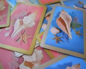6 1960s Sea Shell Summer Playing Cards