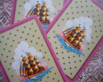 Antique Victorian Ship Playing Cards