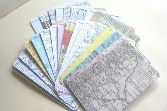 Etsy Holiday - Scrapbook deco tape - 27 Sheet Set - Map Design Version