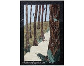 Woodland Scene Quilt Wall Hanging Art