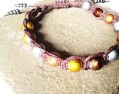 Earth Tone Macrame Hemp Bracelet