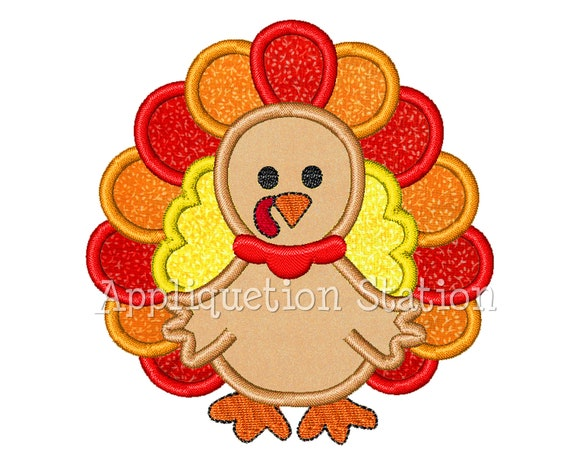 Turkey color applique machine embroidery by
