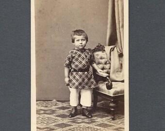 CDV of a Well Dressed Little Boy