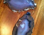 Natural Agate Geode Coaster Set