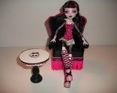 Handmade Monster High Wingback Chair and Table Set