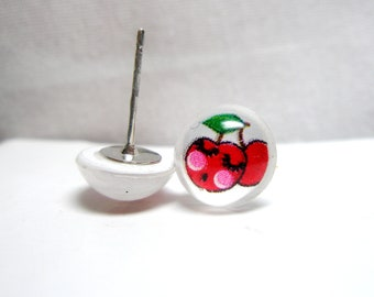 Cherry Post Earring-  free gift
