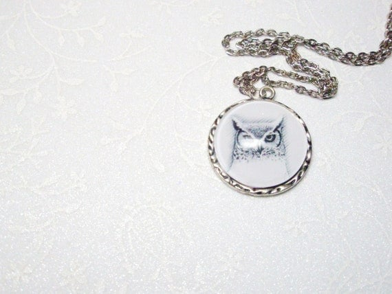Owl Necklace  Bird Pendant   Gift For Her Under 20
