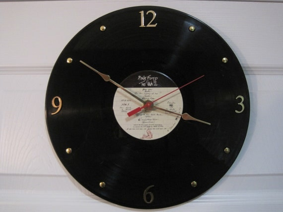 Pink Floyd - Vinyl LP record album clock. - The Wall - Upcycled