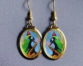 Be Bop Bird Parrot Saxophone Earrings