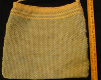 Handwoven mint and cream tote
