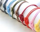 Small Knot Bracelet: Nautical Knot Bracelet - 24k gold plated
