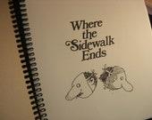 Where Sidewalk Ends blank book journal